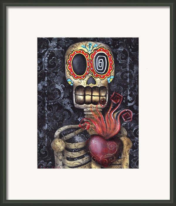My Sacred Heart Framed Print By  Abril Andrade Griffith