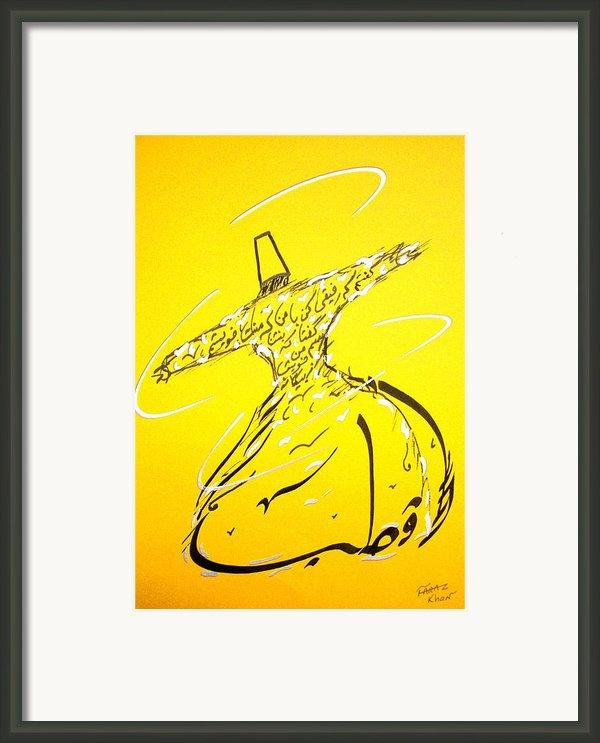 Mystic Dancer In Yellow Framed Print By Faraz Khan