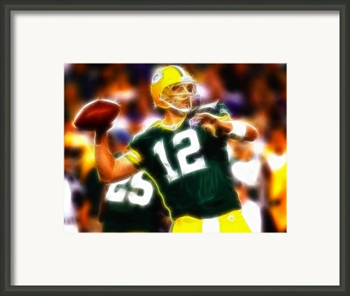 Mystical Aaron Rodgers Framed Print By Paul Van Scott