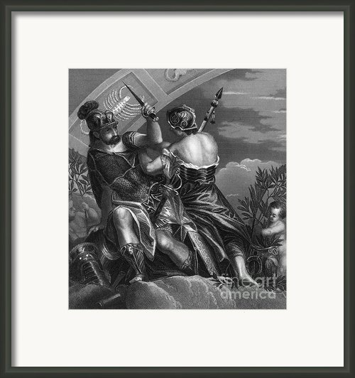 Mythology: Ares Framed Print By Granger