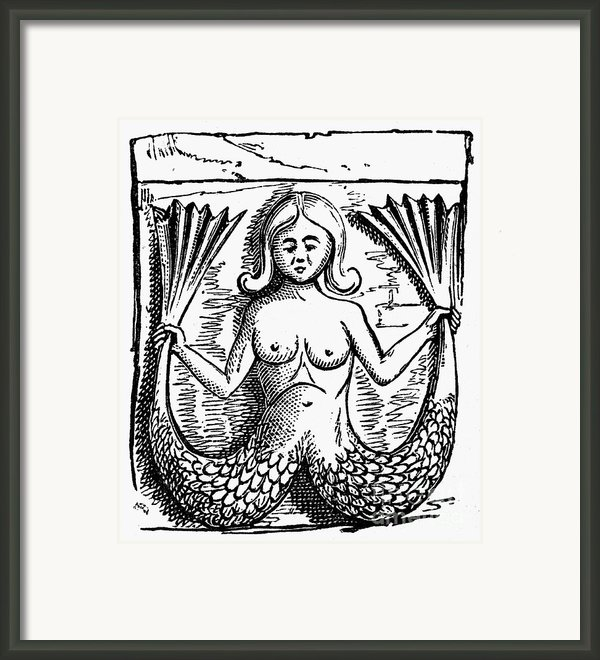 Mythology: Mermaid Framed Print By Granger