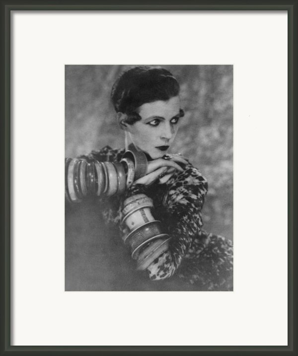 Nancy Cunard 1896-1965, Heiress Framed Print By Everett