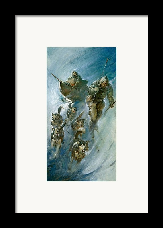 Nansen Conqueror Of The Arctic Ice Framed Print By James Edwin Mcconnell