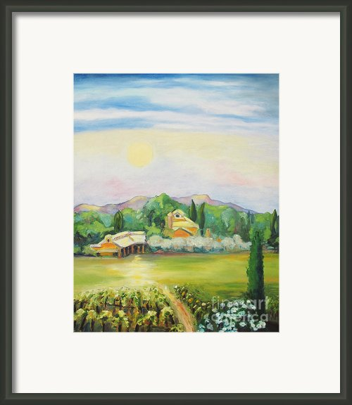 Napa Moon Framed Print By Barbara Anna Knauf