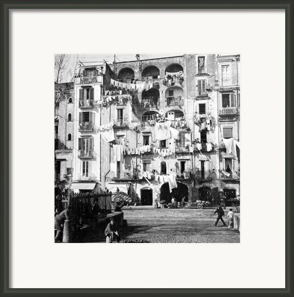 Naples Italy - C 1901 Framed Print By International  Images