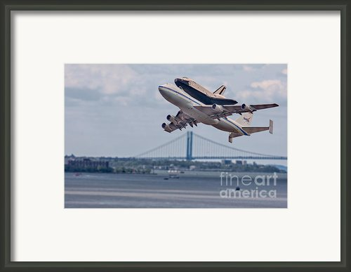 Nasa Enterprise Space Shuttle Framed Print By Susan Candelario