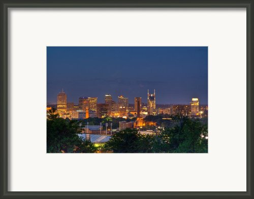 Nashville By Night 2 Framed Print By Douglas Barnett
