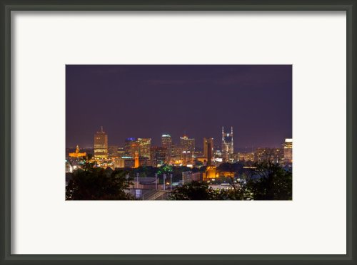 Nashville By Night 3 Framed Print By Douglas Barnett
