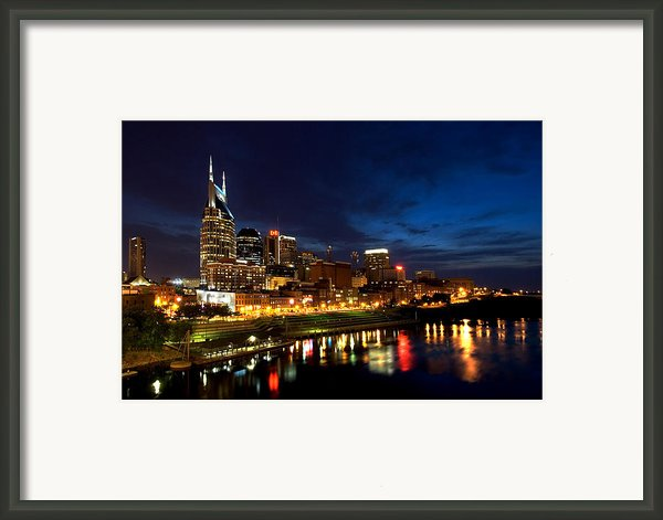Nashville Skyline Framed Print By Mark Currier