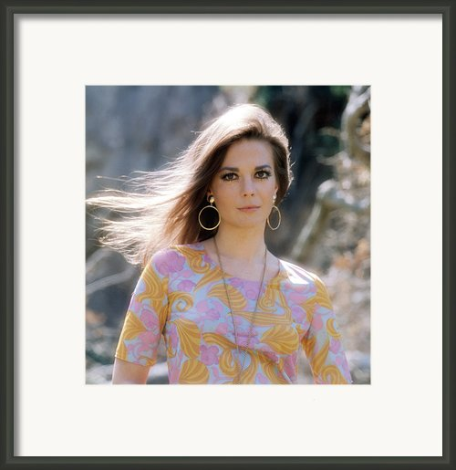 Natalie Wood, Wearing A Pucci Design C Framed Print By Everett
