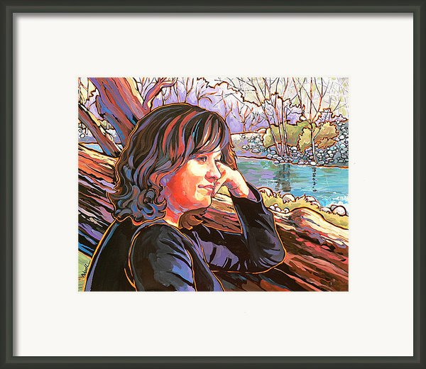 Nataliya Framed Print By Nadi Spencer