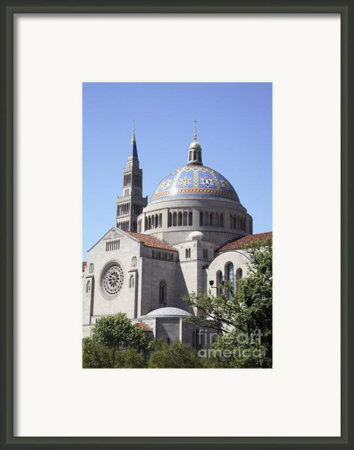 National Shrine Of The Immaculate Conception Framed Print By William Kuta