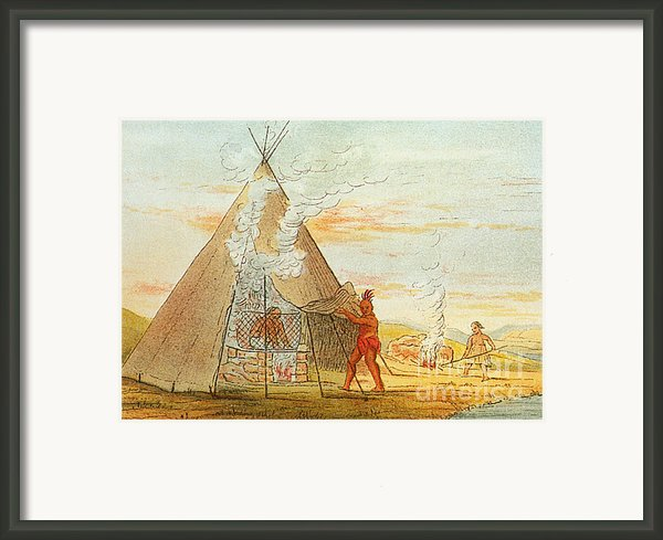 Native American Indian Sweat Lodge Framed Print By Science Source