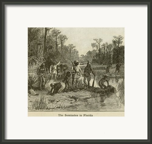 Natives Of Many Southeastern Tribes Framed Print By Everett