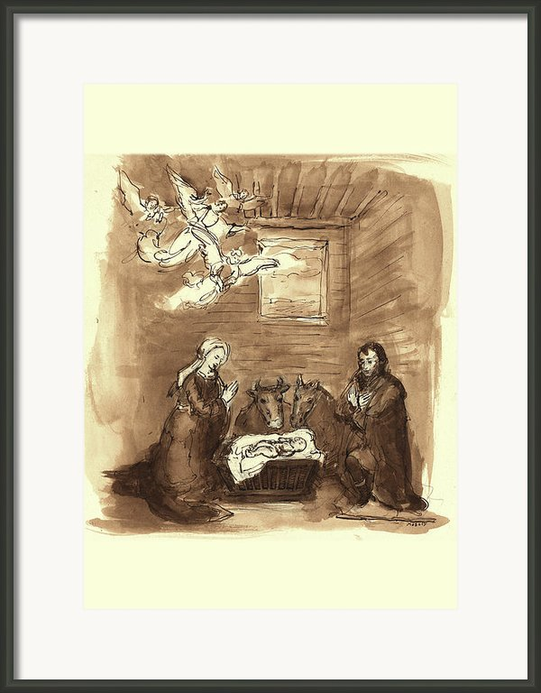 Nativity Framed Print By Walter Mosley
