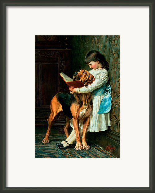 Naughty Boy Or Compulsory Education Framed Print By Briton Riviere