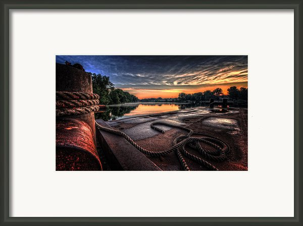 Nautical Sunrise Framed Print By Everet Regal