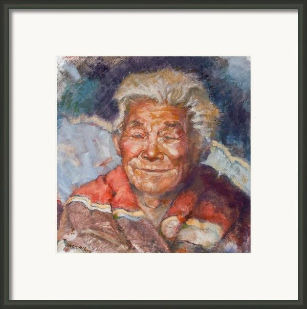 Navaho Wisdom Framed Print By Ellen Dreibelbis