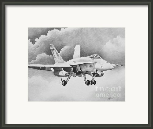 Navy Hornet Framed Print By Stephen Roberson