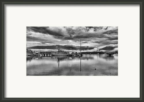 Navy Lookout Framed Print By Douglas Barnard