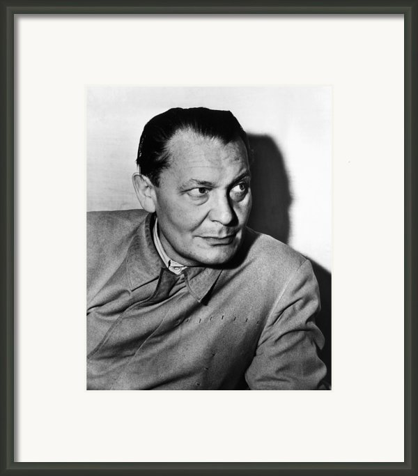 Nazi War Criminal Hermann Goering, Ca Framed Print By Everett