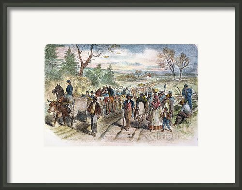 Nc: Freed Slaves, 1863 Framed Print By Granger