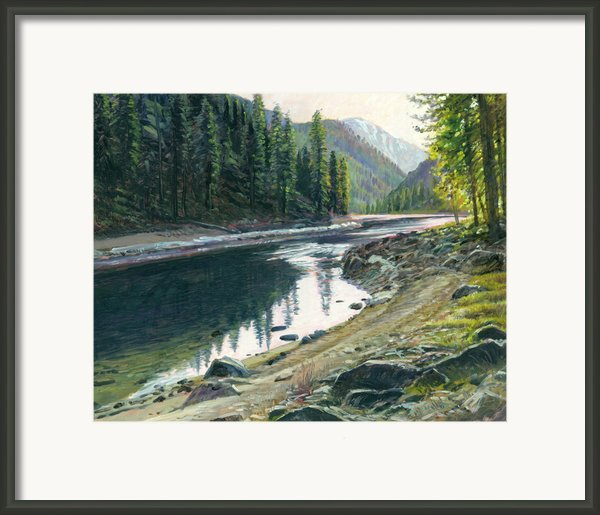 Near Horse Creek Framed Print By Steve Spencer