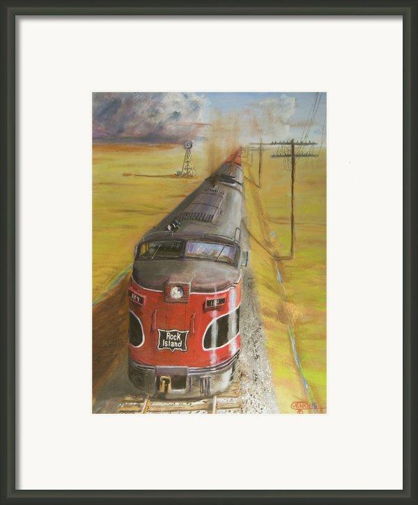 Near Thistle  Ks Framed Print By Christopher Jenkins