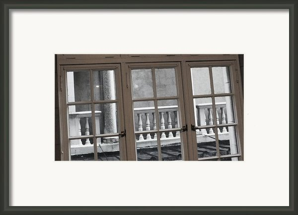 Neighbors Baluster Framed Print By Anna Villarreal Garbis