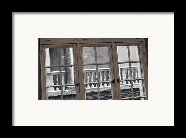 Neighbors Baluster Framed Print By Anna Villarreal Garbis