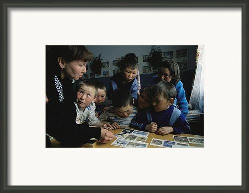 Nenets Students Must Learn Russian Framed Print By Maria Stenzel
