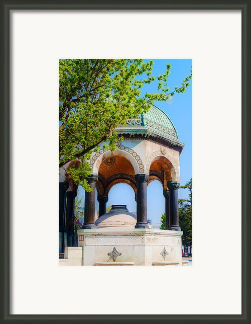 Neo-byzantine German Fountain Framed Print By Maryjane Armstrong