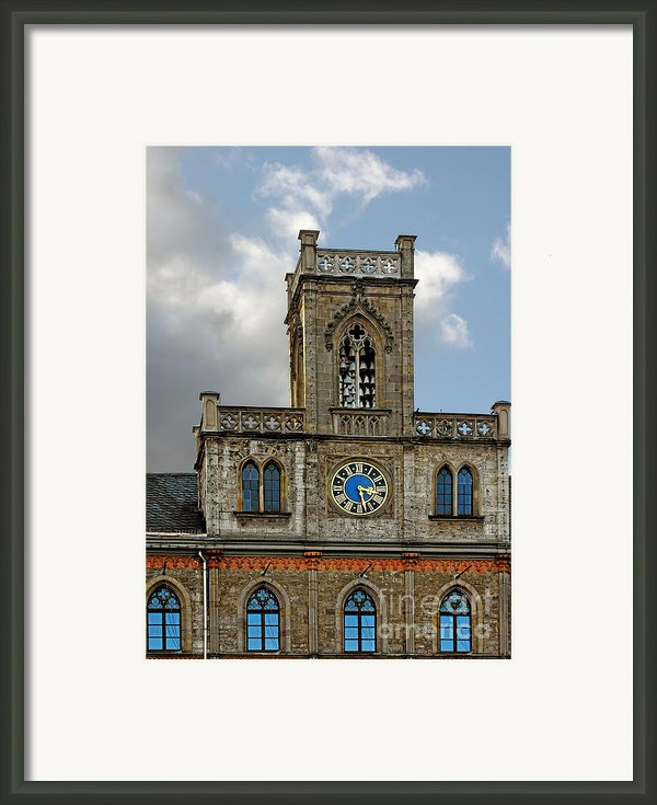 Neo-gothic Weimarer City Hall Framed Print By Christine Till