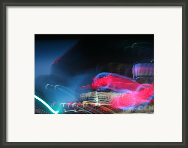 Neon Nights Framed Print By Rick Rauzi