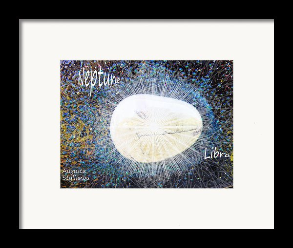 Neptume In Libra Framed Print By Augusta Stylianou