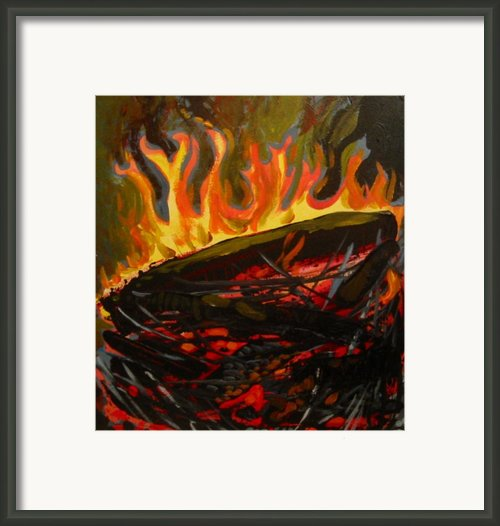 Nest On Fire Framed Print By Tilly Strauss
