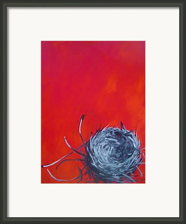 Nest On Red Framed Print By Tilly Strauss