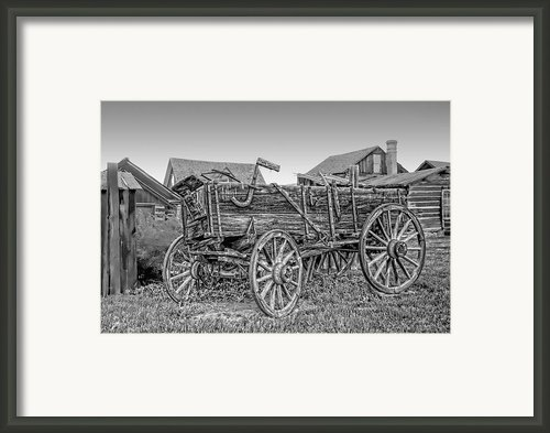 Nevada City Montana Freight Wagon Framed Print By Daniel Hagerman