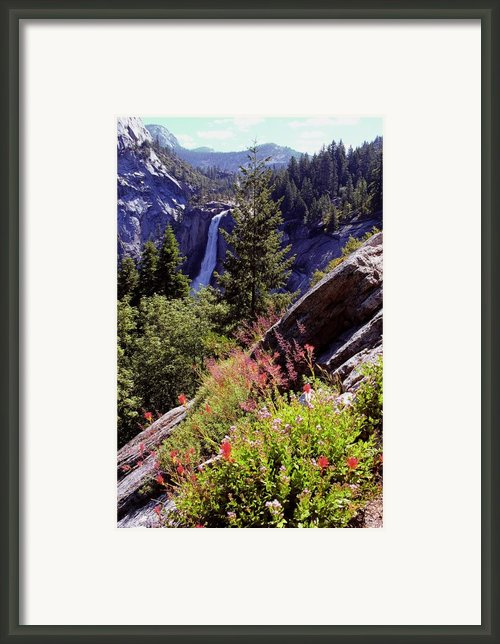 Nevada Falls Yosemite National Park Framed Print By Alan Lenk