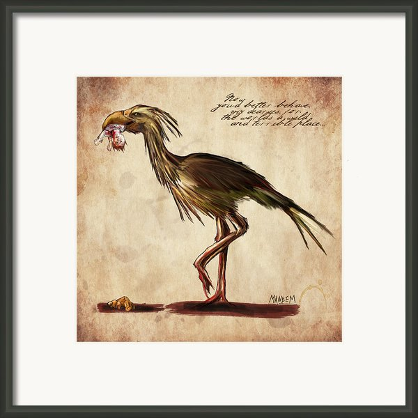 Never Bird Framed Print By Mandem