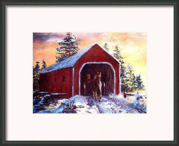 New England Winter Crossing Framed Print By Jack Skinner