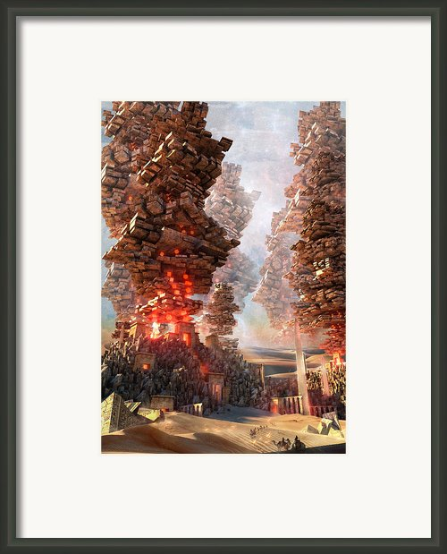 New Mecca Framed Print By Te Hu