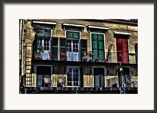 New Orleans Balcony Framed Print By Cecil Fuselier