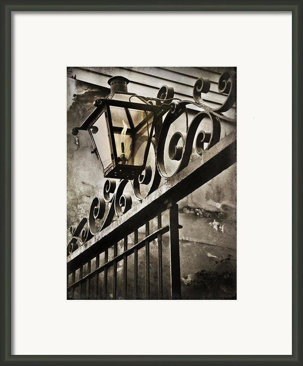 New Orleans Gaslight Framed Print By Bronze Riser