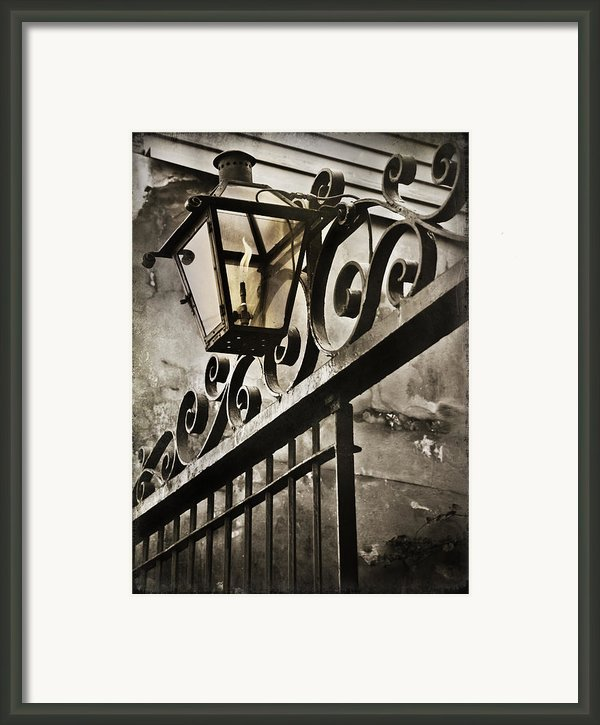 New Orleans Gaslight Framed Print By Bronze Riser