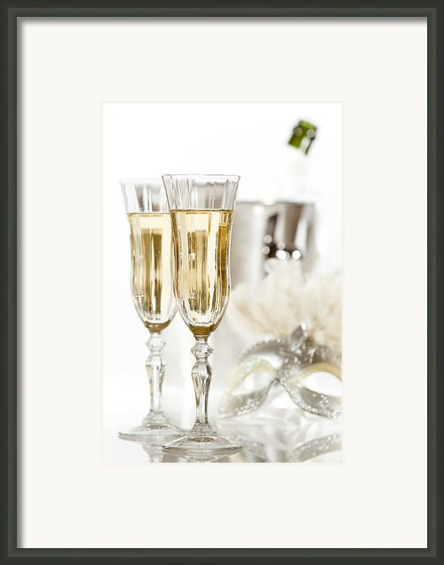 New Year Champagne Framed Print By Christopher And Amanda Elwell
