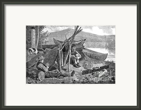 New York: Camping, 1874 Framed Print By Granger