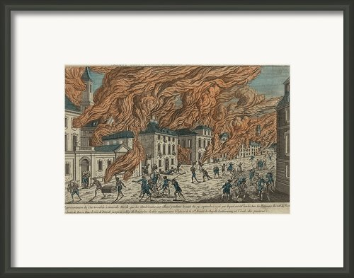 New York City Fire Of September 21-22 Framed Print By Everett