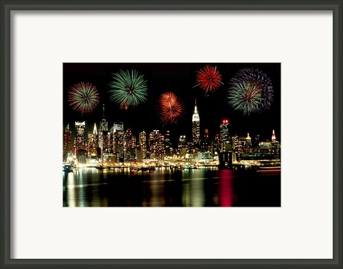New York City Fourth Of July Framed Print By Anthony Sacco
