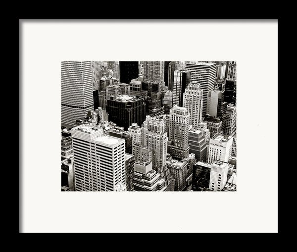 New York City From Above Framed Print By Vivienne Gucwa